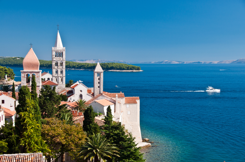 Picturesque town of Rab, on the island of Rab, Croatia